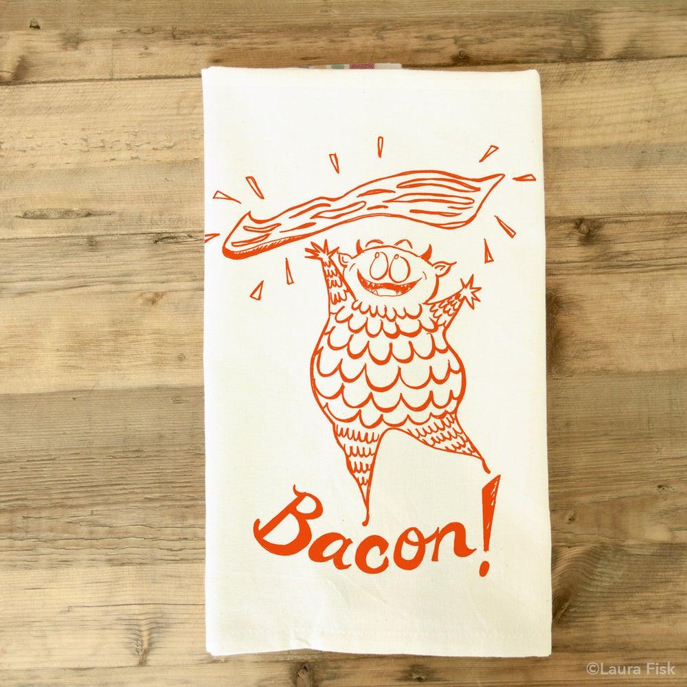 Image of bacon tea towel
