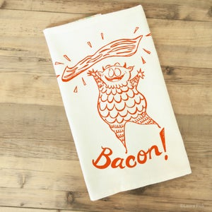 Image of bacon tea towel