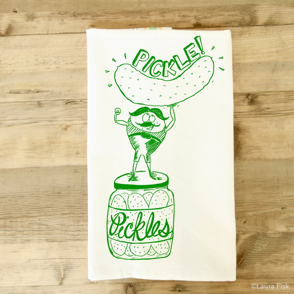Image of Pickle tea towel