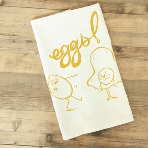 Image of eggs tea towel