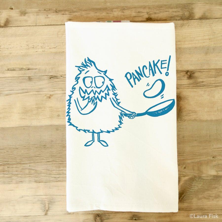 Image of pancake monster tea towel