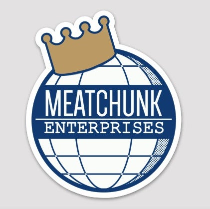 Image of MEATCHUNK CROWN LOGO DIE CUT STICKER