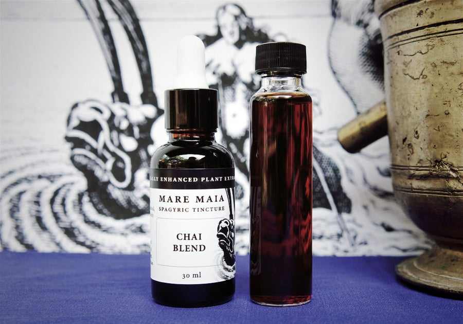 Image of CHAI BLEND spagyric tincture - alchemically enhanced plant extraction