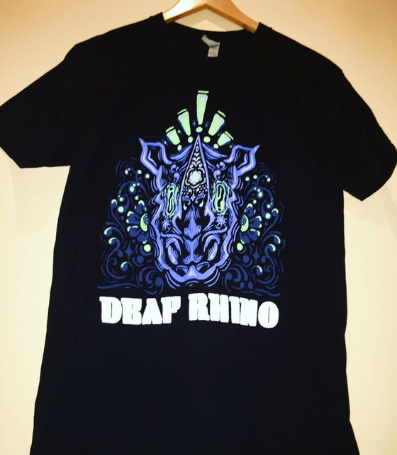 Image of Psychedelic Deaf Rhino Full Color Tee Shirts