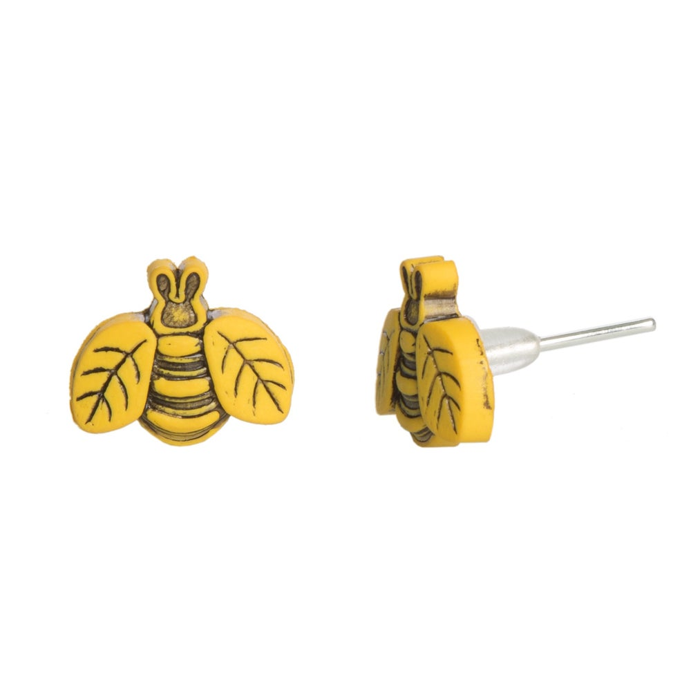 Image of Tiny Bumble Bee Earrings