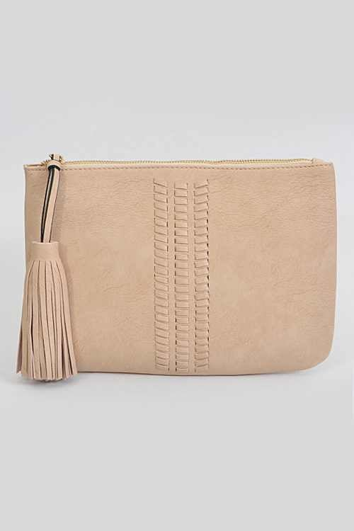 Image of Braided Clutch with Tassel
