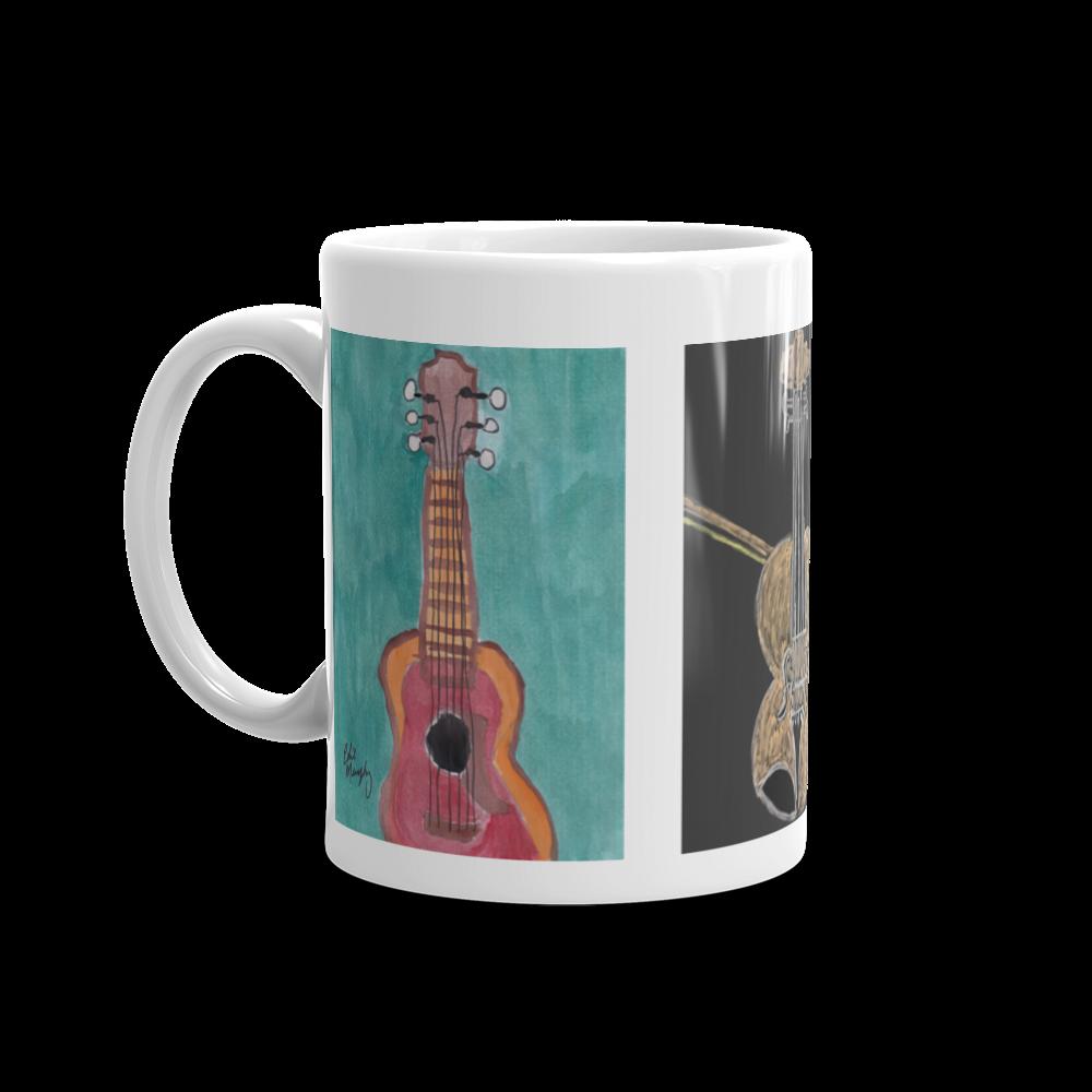 Image of Guitar and fiddle coffee mug