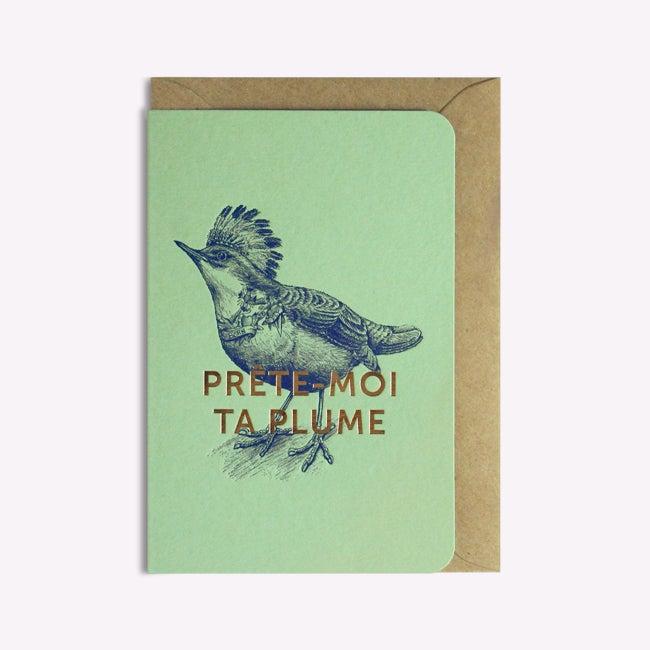 Image of Carte prête-moi ta plume