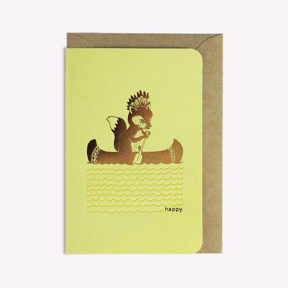 Image of Carte Happy Canoë