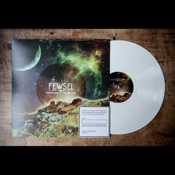 "Image of FEWSEL ""WRONG SIDE OF THE UNIVERSE"" Color Vinyl White"
