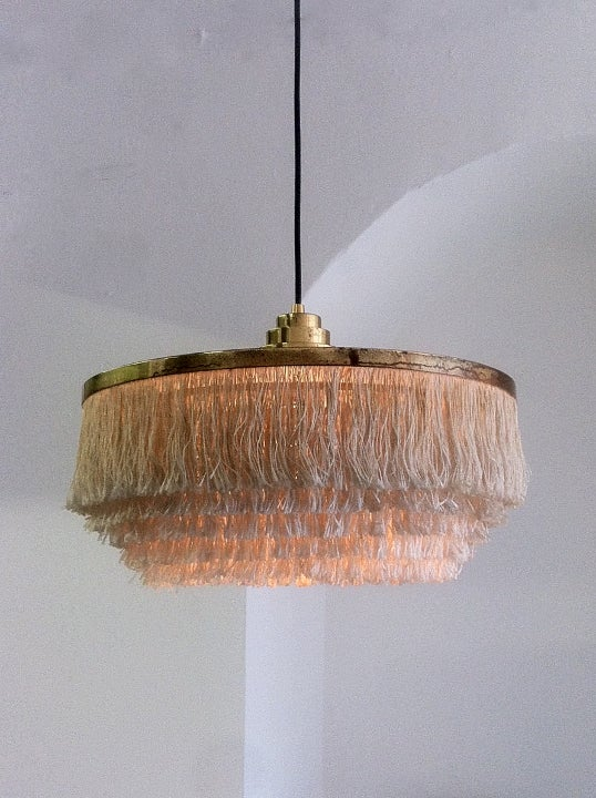 Image of Large Fringed Pendant Light by Hans Agne Jakobsson