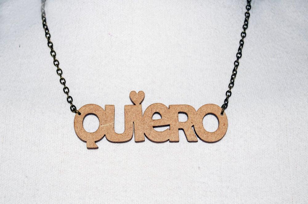 Image of Gargantilla 'Quiero'