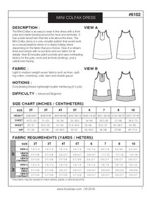 Image of MINI COLFAX DRESS (PDF)