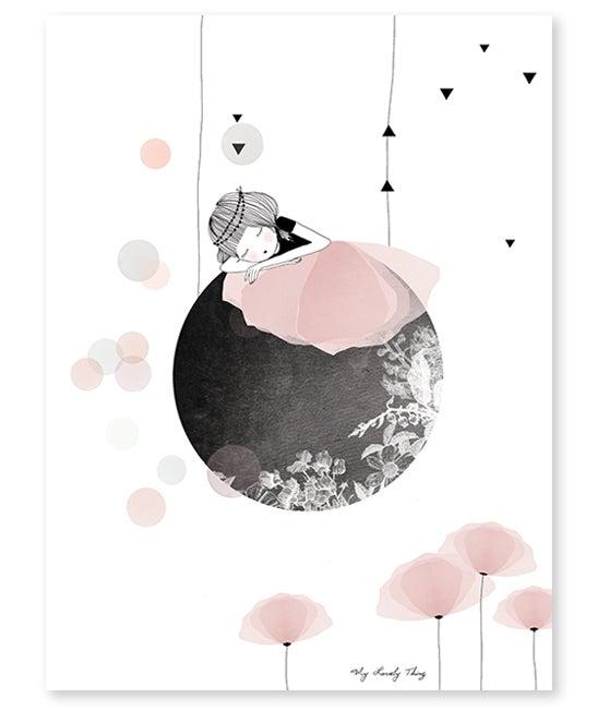"""Image of Lámina Infantil """"Siesta en la Luna"""""""