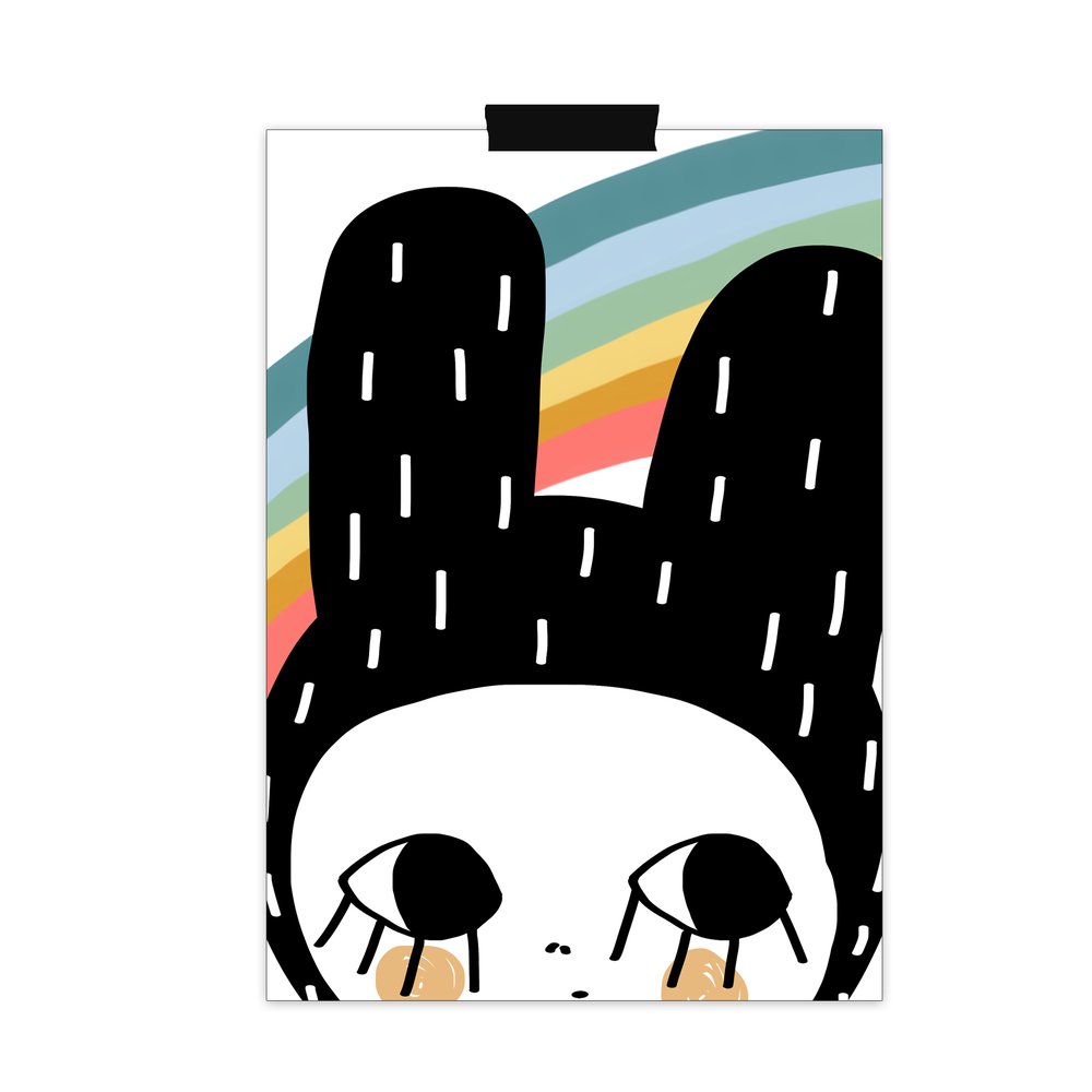 "Image of Lámina ""Rainbow bunny"""