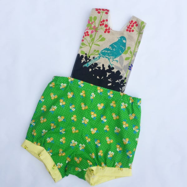 Image of Baby romper - size 00 - birds and the bees