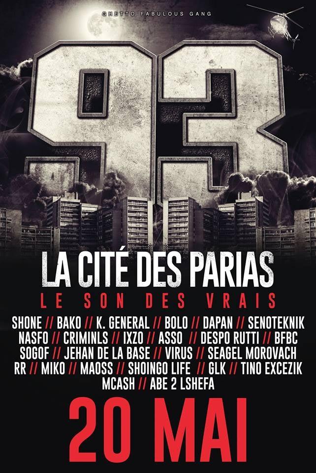 """Image of CD GFG """"93 la cité des parias"""""""