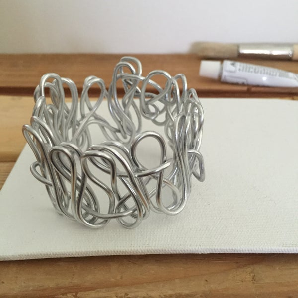 Image of Silver Scrunchie Bracelet