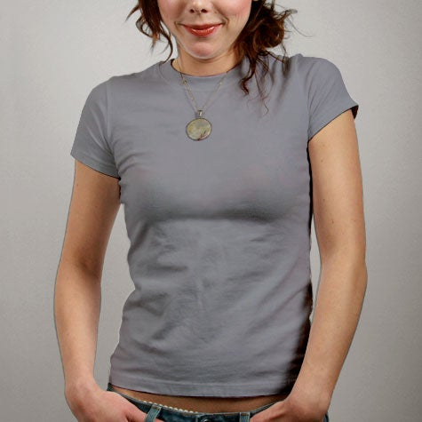 Image of Light Grey Womens T-shirt