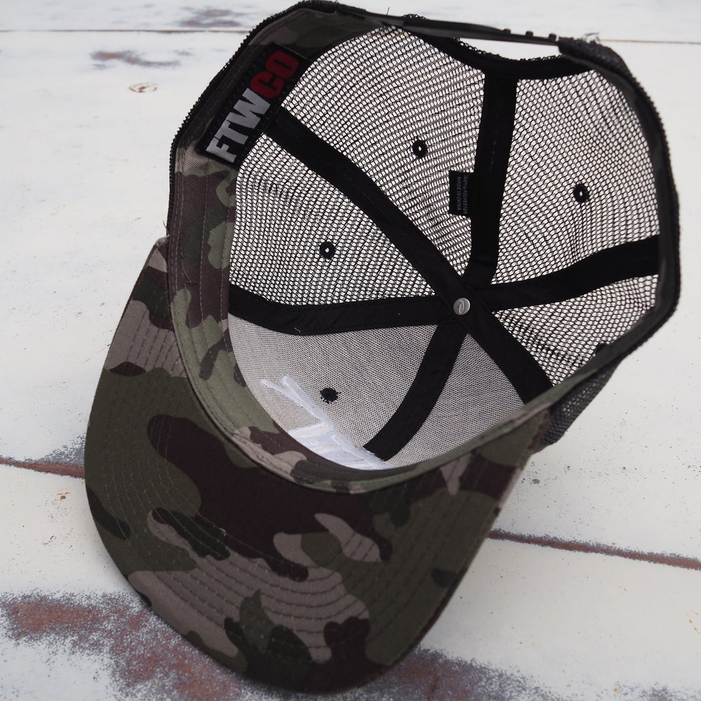 Image of FTWCO Camo Snap-Back Hat