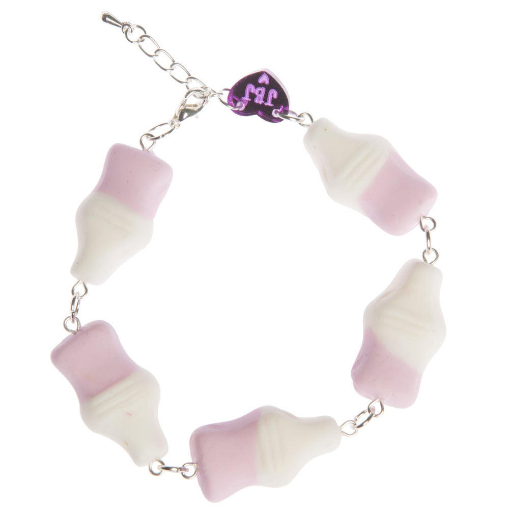Image of Strawberry Milk Bottle Bracelet