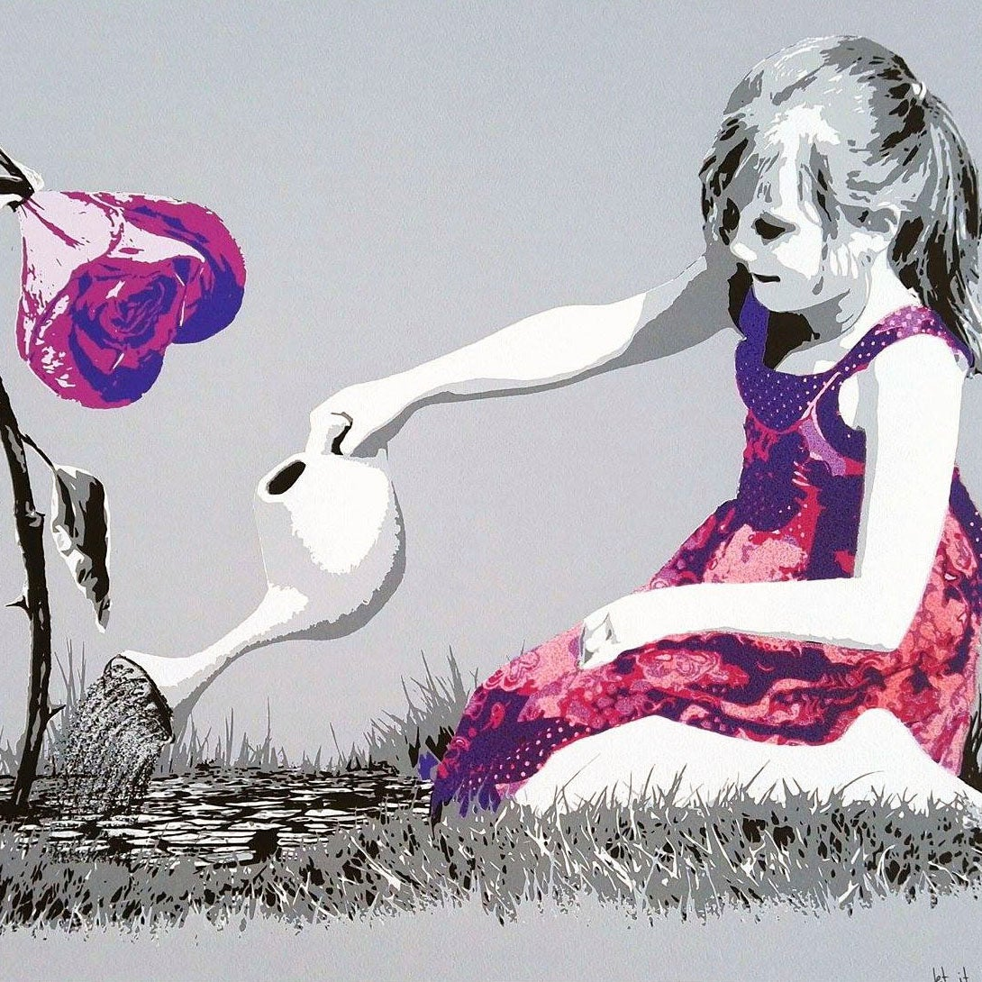 Image of AFK - Let it blossom, medium gray