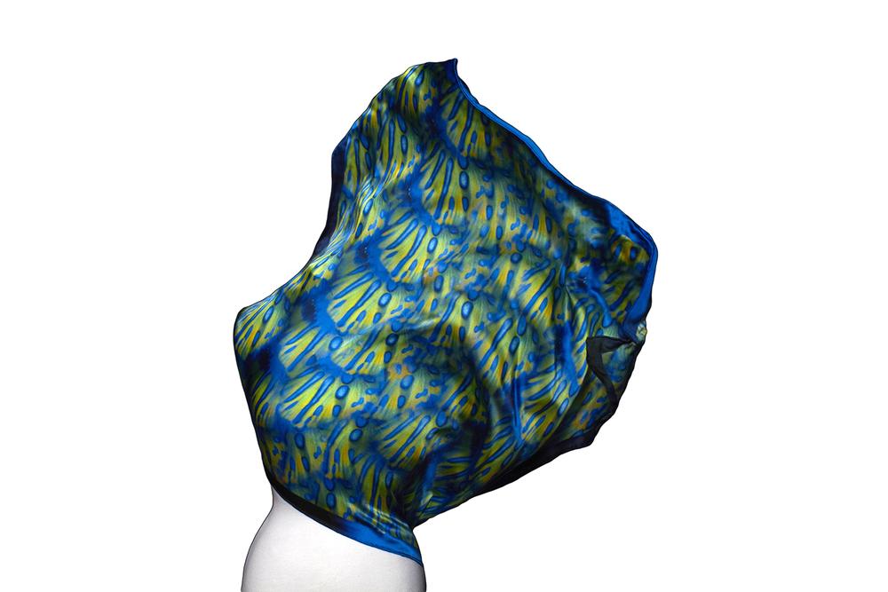 Image of Great Barrier Reef | Mandarinfish Silk Scarf