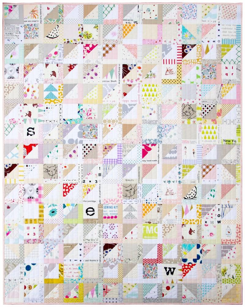 Image of Half Square Triangle Variation Quilt (PDF file)