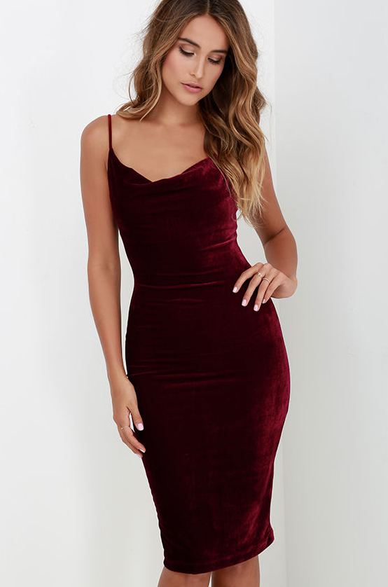 Image of Sexy condole velvet dress