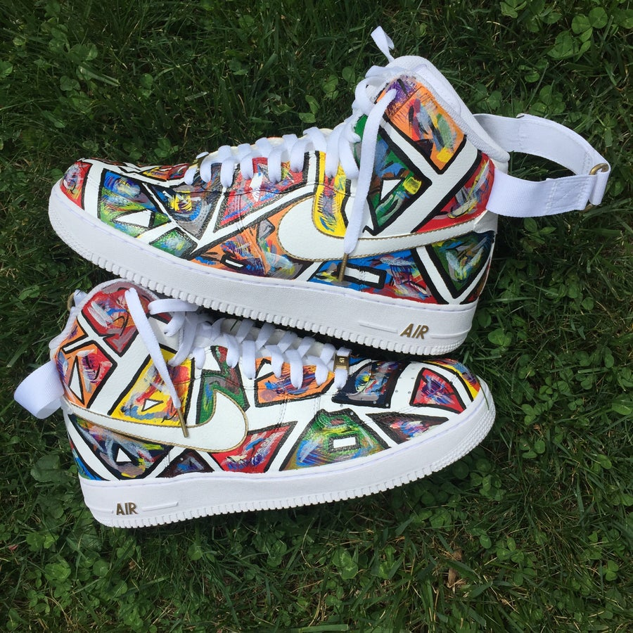 "Image of Custom AF1 ""Feel Me"" size 4.5-13"