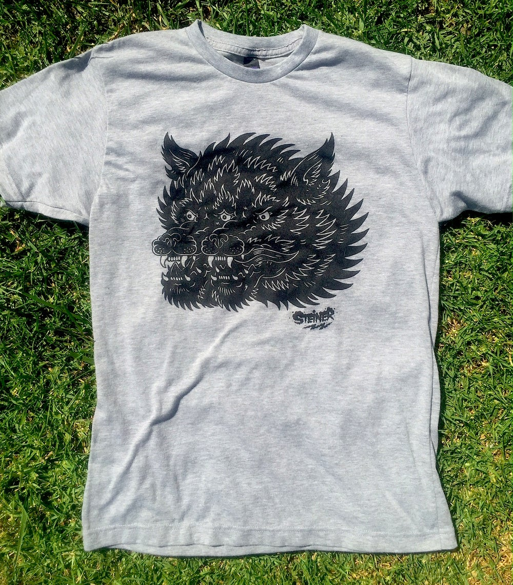 Image of Gemini Wolf shirt Grey