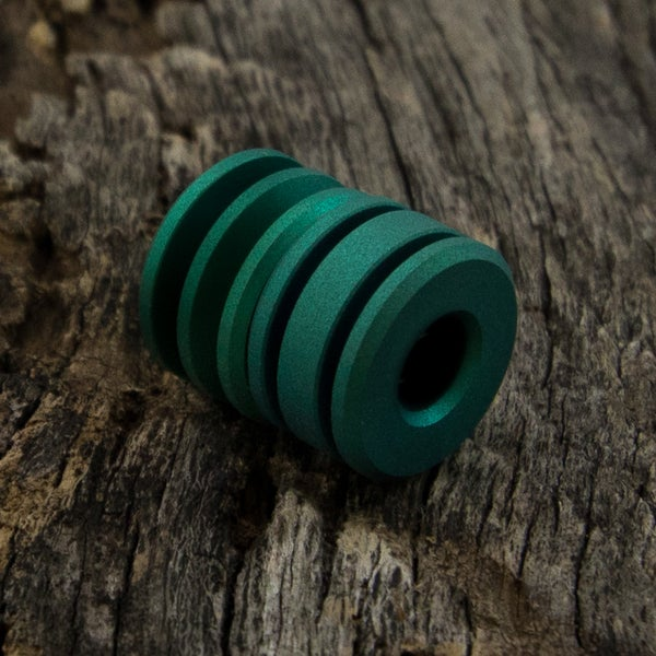 Image of Green with a blasted finish Double Bead Set #4
