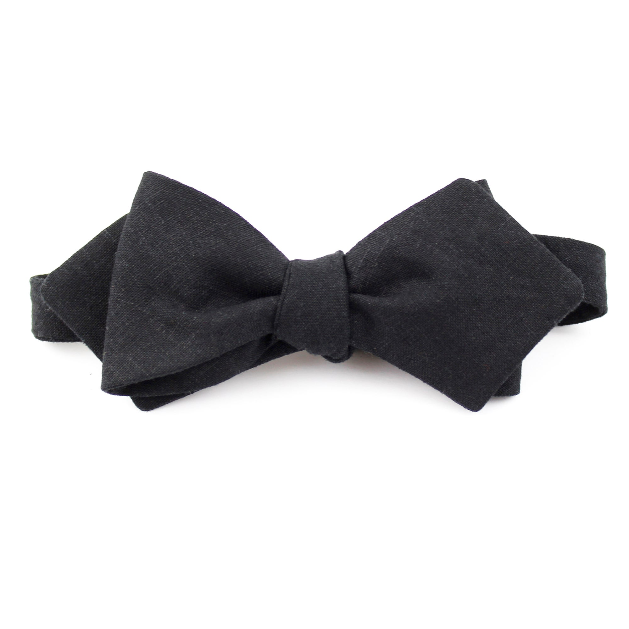 black linen pointed bow tie fox brie