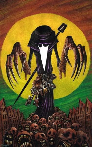 Image of 'Black Death' Art Print