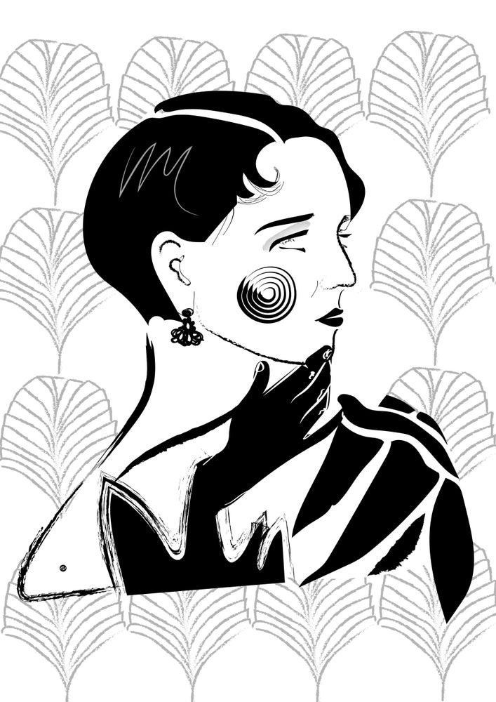 Image of Femme de profil