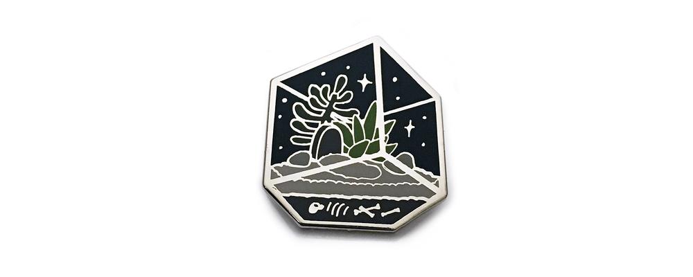 Image of Spooky Terrarium Pin