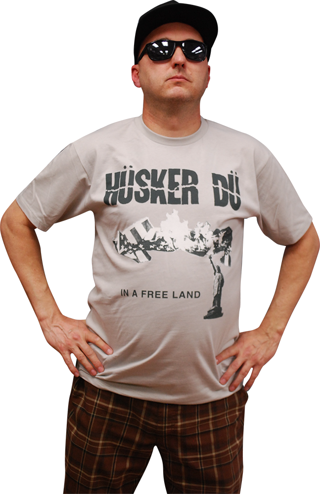Image of HÜSKER DÜ: IN A FREE LAND T-SHIRT