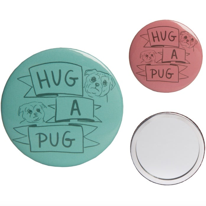 Image of Hug A Pug - Pocket Mirror