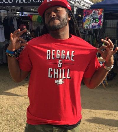 Image of NEW! Reggae & Chill Guys T - Red