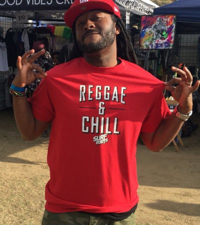 Image of NEW! Reggae & Chill Guys T - Red, Black or Gray
