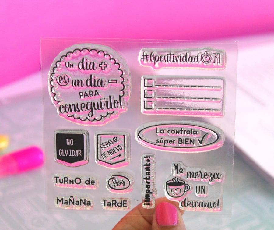 Image of Set de sellos acrílicos OPOSELLOS