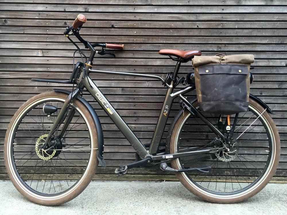 Image of Motorbike bag / motorcycle bag / bicycle bag / pannier in waxed canvas / bike accessories