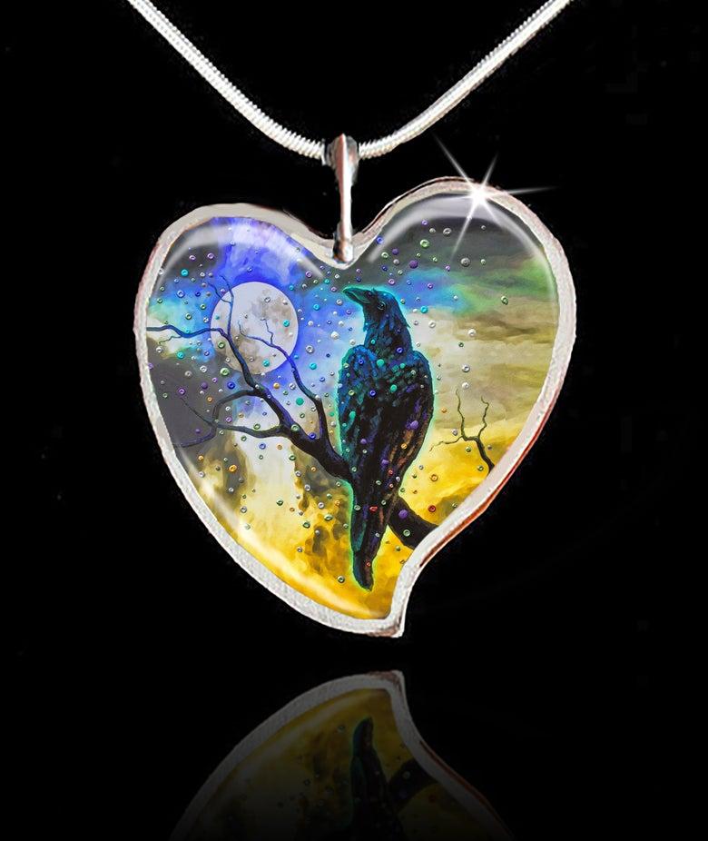 Image of Raven's Moon Energy Pendant