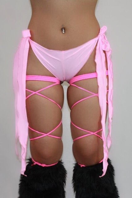 Image of Baby Pink Ribbon Tie Bottoms
