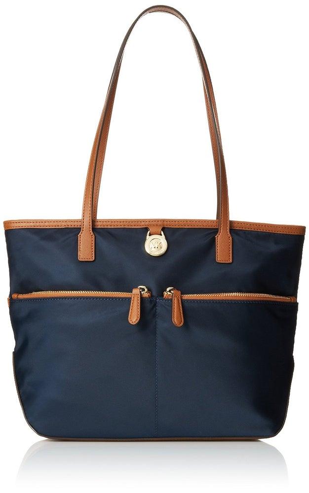 Image of Medium Pocket Nylon Tote Handbag