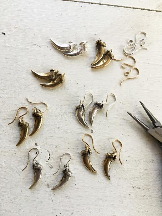 Image of Owl Talon Earrings