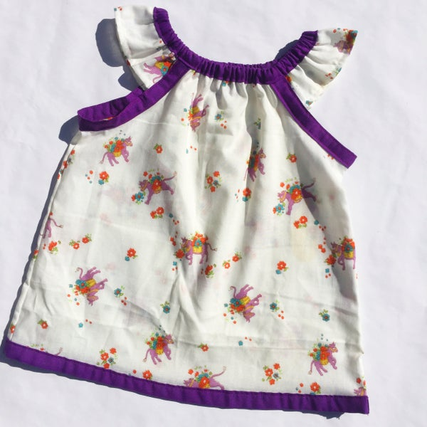 Image of Vintage dress/top - size 12mths to 3yrs - donkey floral