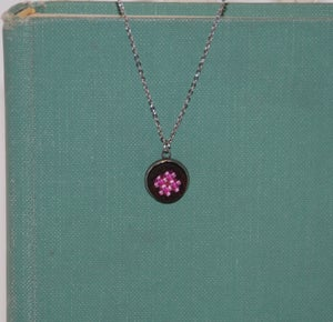 Image of Little Black Dog Designs~ Cross Stitch Solitaire Necklace