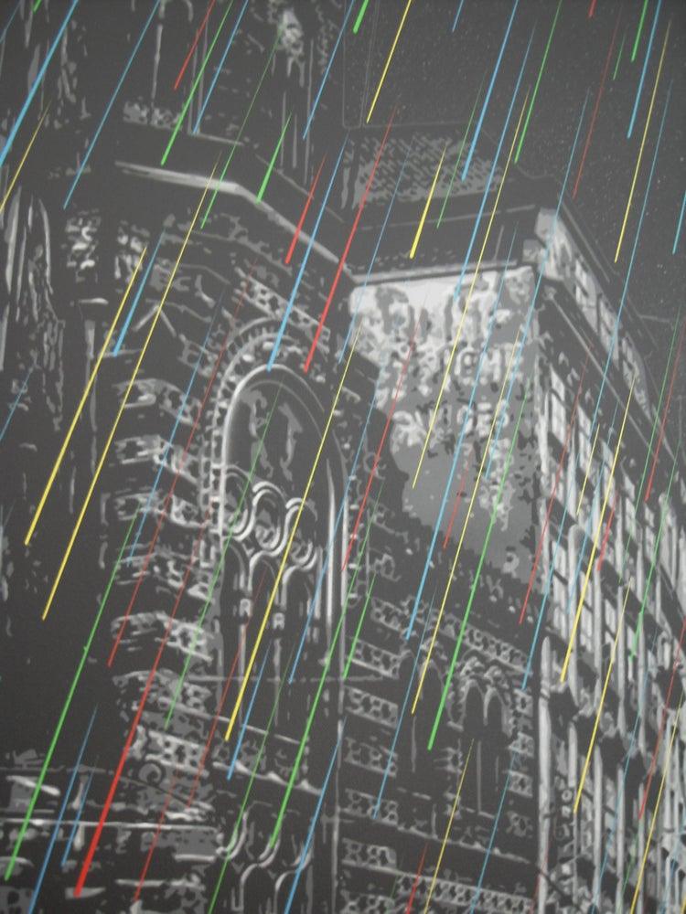 Image of ROAMCOUCH - EMOTIONAL RAIN - UNIQUE ORIGINAL CANVAS - 118CM X 80CM