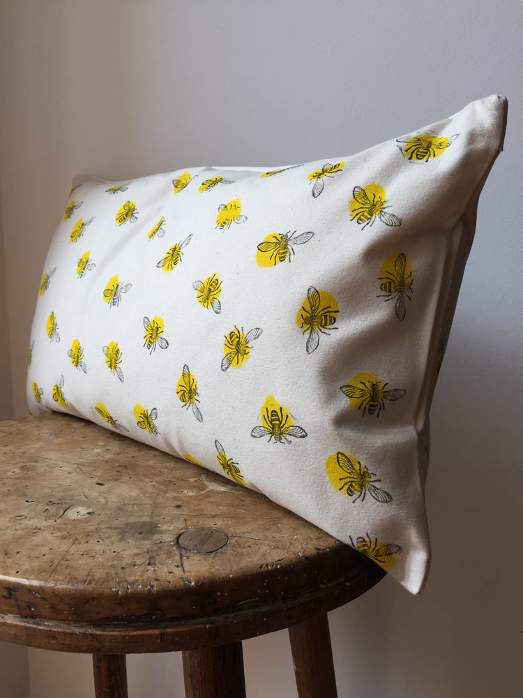Image of Bee Cushion - Hand Printed in Manchester UK